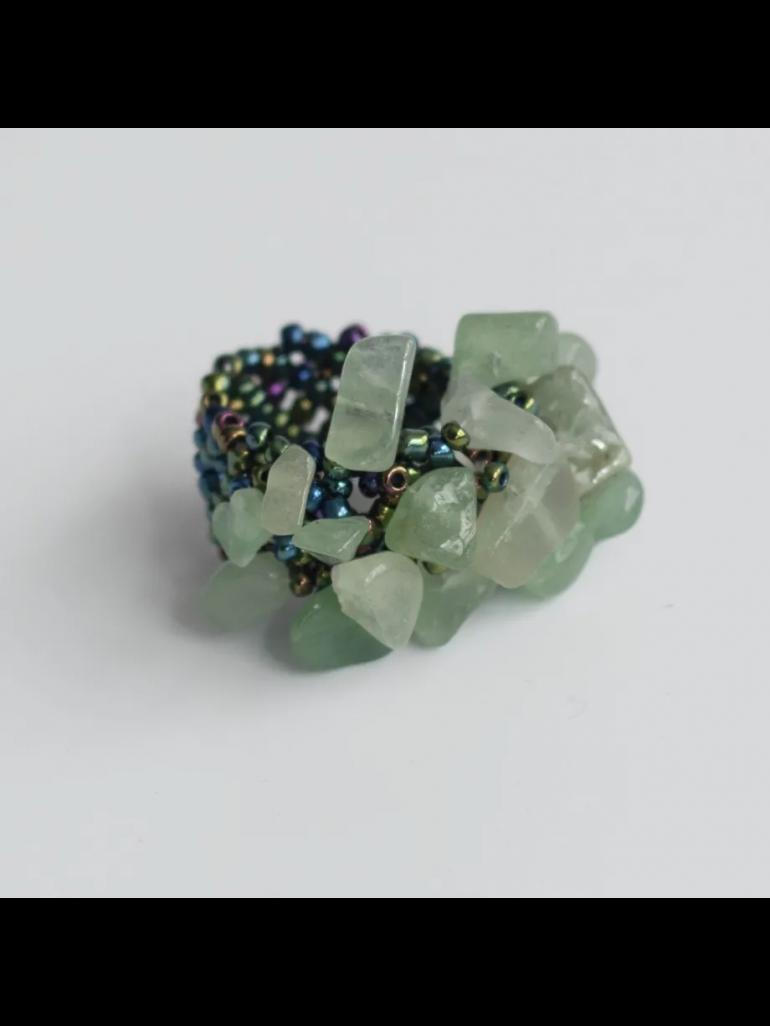 Lucky Ring (Grøn Aventurin)