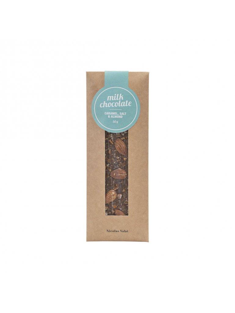 Mælke chokolade (Karamel, Salt og mandler)