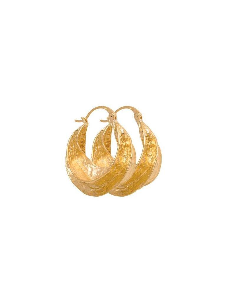 Afrika Øreringe (Guldbelagt)
