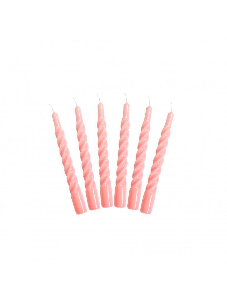 Candels with a Twist (Pink) 2 stk.
