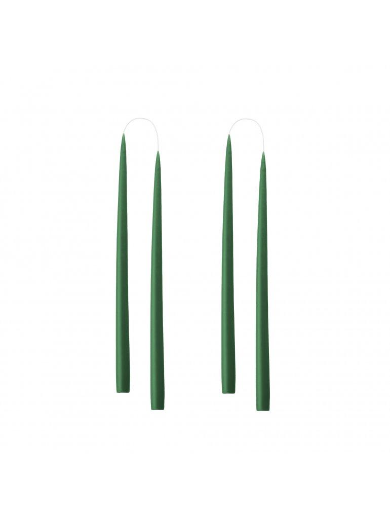 Hånddryppet lys (Flaske grøn) (4 stk)