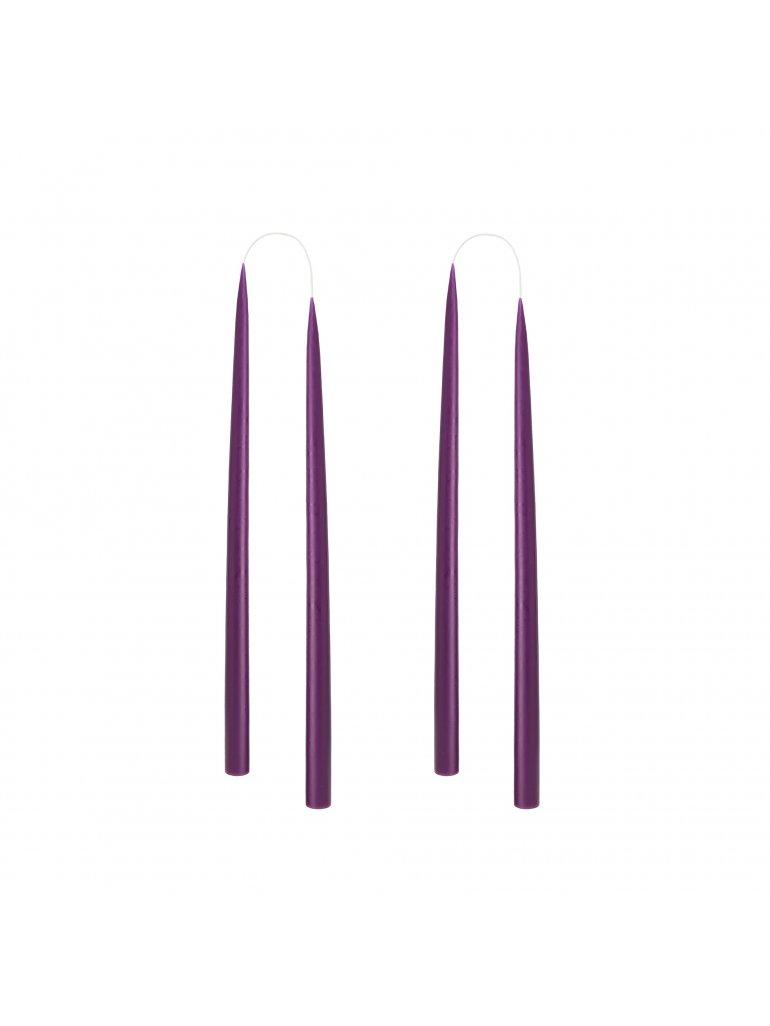 Hånddryppet lys (Violet) (4 stk)
