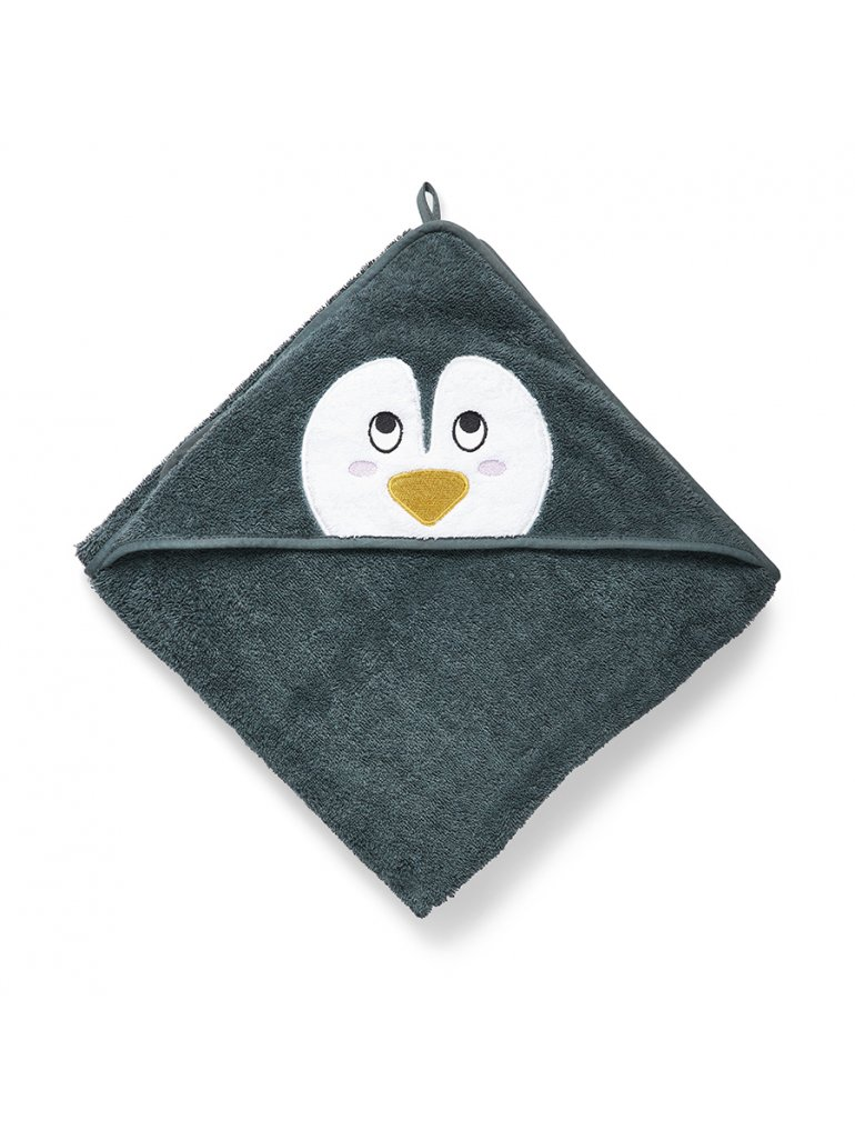 Håndklæde m. hætte (Pingvin)