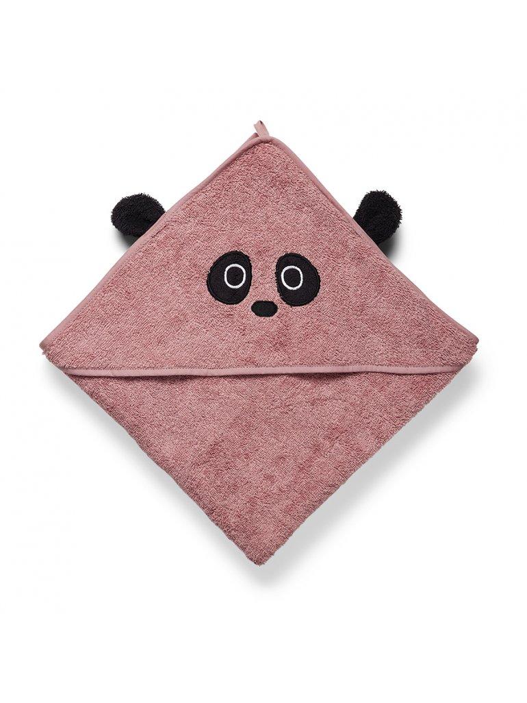 Håndklæde m. hætte (Panda)